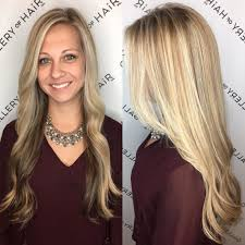 hair highlighted in front women s long blonde highlighted hair with front layers and soft