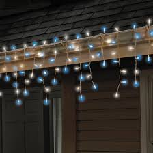 sylvania 100 ct glass look led icicle lights by sylvania at mills