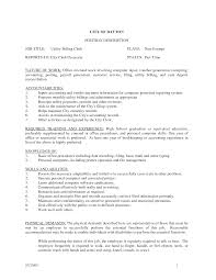 Resume Examples For Clerical Positions by Resume Clerical Work Resume