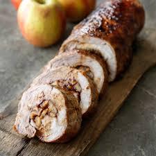 thanksgiving pork loin bourbon caramel apple pork loin recipe olivelle the art of flavor