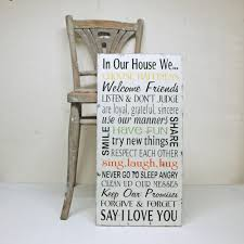 Family House Rules by In Our House We Family Rules Sign In Cottage White Flickr