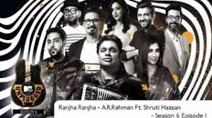 mtv unplugged india mp3 download ar rahman ranjha ranjha ar rahman