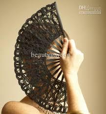 black lace fan 2017 black batten lace fan handmade