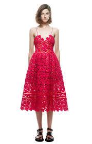 cheap self portrait red azaelea midi lace dress 2016 self