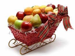 organic fruit basket fruit sleigh