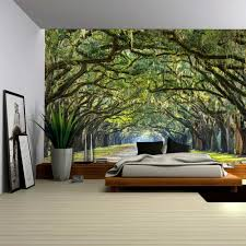 wall26 com art prints framed art canvas prints greeting wall26 long pathway in an arch tree covered forest wall mural removable sticker home decor 100x144 inches