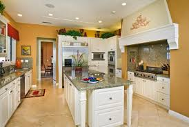 orange and white kitchen ideas classic kitchen decorating ideas with white shaker cabinet