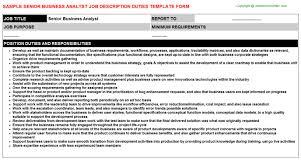 sample resume for senior business analyst responsibilities of business analyst business analyst resume