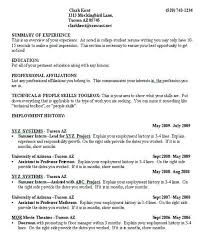 One Job Resume Resume Examples For Job Efficiencyexperts Us