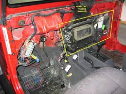 2001 jeep grand heater replacement tj heater replacement 2