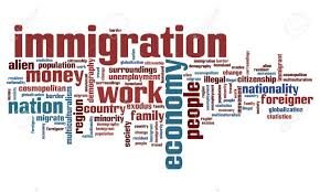 cosmopolitan word immigration issues and concepts word cloud illustration word