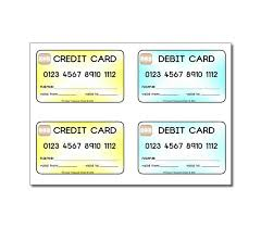 debit cards for kids credit cards debit cards for children to use in play shop