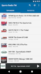 105 3 the fan listen live sports radio fm apps on google play