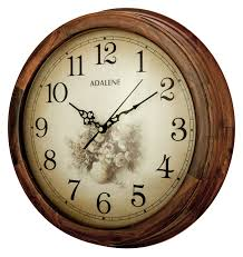 adalene 14 inch wall clock large decorative living room clock