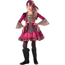 Halloween Costumes Walmart Kids Pretty Pirate Girls Halloween Costume Walmart