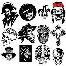 amazing skull vector set tattoos tatting