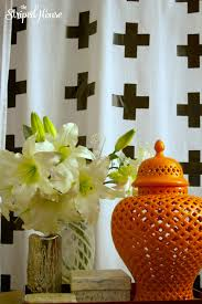 duck tape cross curtain tutorial the striped house