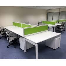 Bench Desking New Slim Bench Desk Silver Space Saving Desk Solution Narrow