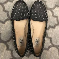 ugg s roni shoes black 75 ugg shoes ugg alloway black studded flats loafers 8 from