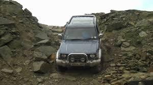 mitsubishi pajero 1992 1992 mitsubishi pajero step down hill crawl at cawm quarry youtube