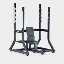 military weight training bench with barbell rack pure strength