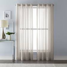 Sheer Curtains Grommet Top Buy Linen Sheer Curtains From Bed Bath U0026 Beyond