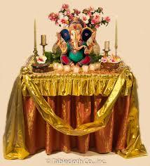 Home Ganpati Decoration Ganpati Decoration Tablecloth Company