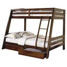 Wildon Home  Mullin Twin Over Full Bunk Bed With Storage - Full bunk bed