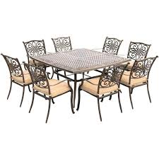 lowes outdoor dining table patio furniture covers lowes premium outdoor dining table with fire