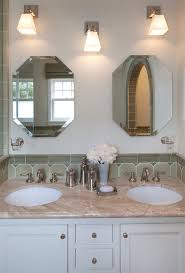 Beveled Mirror Bathroom Frameless Beveled Mirror Bathroom Traditional With Bath