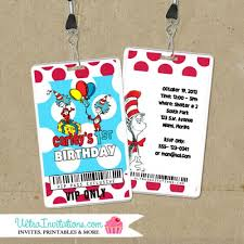 dr seuss birthday invitations dr seuss vip pass invitations birthday backstage pass invites