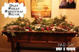 easy christmas home decor ideas easy christmas decorating ideas parties for penniesparties
