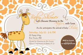 giraffe themed baby shower giraffe baby shower invitations templates brown background