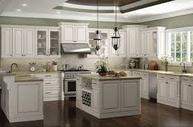 impressive antique white kitchen cabinets in classic home interior