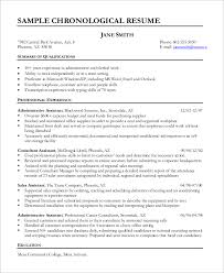 A Resume Example In The by Chronological Resumes Chronological Resume Format Exactly Which
