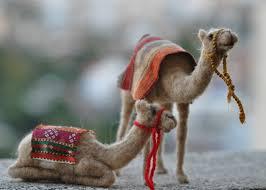 needle felted nativity setwaldorf sitting camel by darialvovsky