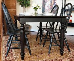 Black Windsor Chairs Dining Table U0026 Windsor Chairs Set In Antique Black Finish Color