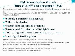 high school applications online high school information and options ppt