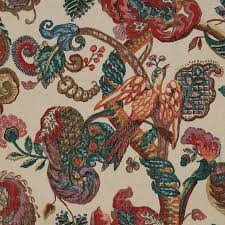Bird Print Curtain Fabric Upholstery Fabric With Birds Birds Of Prey