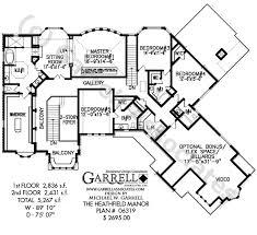 heathfield manor house plan dual master house plans