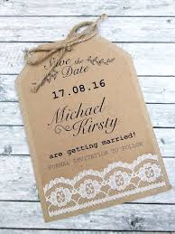 luggage tag save the date rustic lace luggage tag save the date card