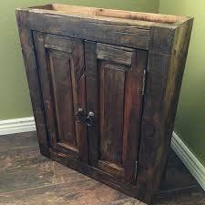 Handmade Bathroom Cabinets - rustic handmade bathroom cabinet rustic farm house 1900s