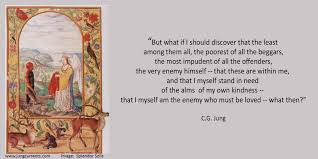 quote about love myself c g jung u201ci myself stand in need of the alms of my own kindness