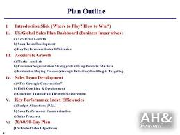 sales plan format sample strategic marketing sales plan template