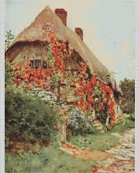 Country Cottage Cross Stitch Country Cottages Cross Stitch Charts Ref 131 Worcestershire