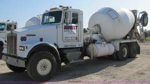kenworth w900b 1991 kenworth w900b concrete mixer truck item 7175 sold
