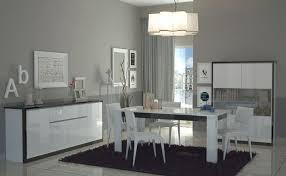 mobili sala da pranzo moderni mito credenza moderna in bianco lucido e nero lucido