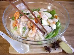 faire sa cuisine en ligne recette soupe repas tonkinoise asiatique recipe