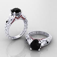 White Gold Cz Wedding Rings by 274 Best Gothic Engagement Rings Images On Pinterest Rose Gold