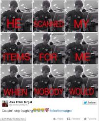 target black friday meme alex from target u0027 goes viral with twitter picture of store worker